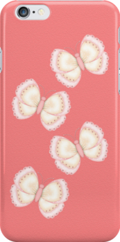 Pink Butterflies ... iphone case by LoneAngel