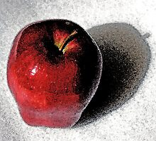 Red Delicious Watercolor by Otto Danby II