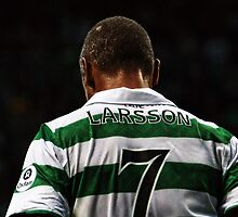 Henrik Larsson 7 - Celtic Legend by Vagelis Georgariou