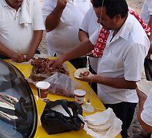 Mexican breakfast - taxi drivers by Bernhard Matejka
