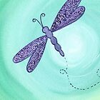 purple dragonfly by klbailey