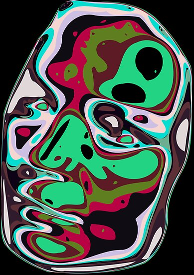 Abstract face 11 by Chris  Butler