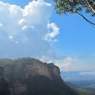 Cumulus Clouds over the Blue Mountains by Michael John