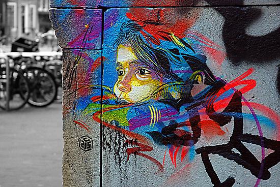 Street art by C215 by street art