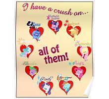 I have a crush on... all of them! - Poster Poster