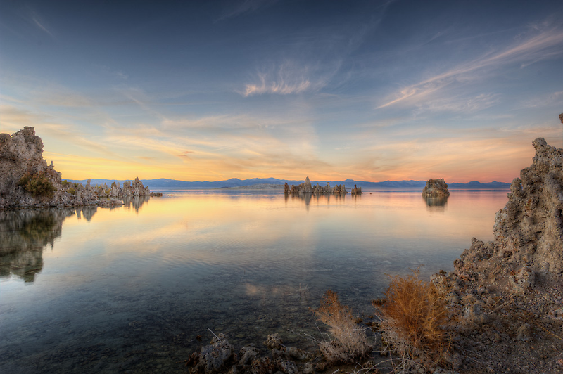 Mono Lake - Sunset by Ted Lansing