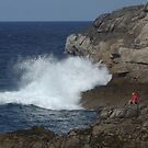 Watching the Waves by sbarnesphotos
