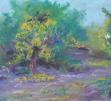 Dusk in the Grove (pastel) by Niki Hilsabeck