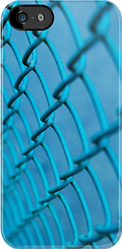 Blue Chainlink Fence by Tim McGuire