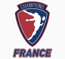 rugby player kicking ball champions France by patrimonio