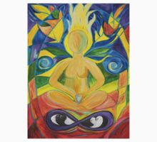 Stained Glass Yoga Meditation by Caryn Colgan
