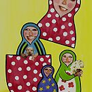 Babushka Family by Kelly Gatchell Hartley