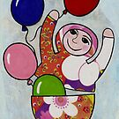 Babushka with Balloons by Kelly Gatchell Hartley