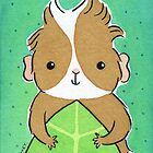 Guinea-pig in Green Leaf by zoel