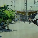 sun bathed railway station , gondia, Maharashtra, India by biswaal