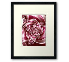 Silk Ribbons for Breast Cancer Framed Print