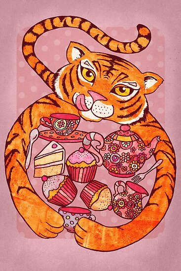 Tiger&#x27;s Tea Party by micklyn