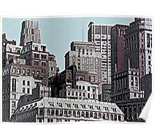 Skyline Past - New York City II Poster