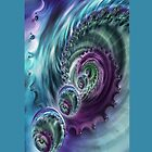 Vortex Iphone case by inkedsandra