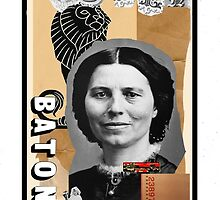 Dada Tarot- Queen of Batons by Peter Simpson