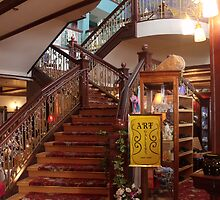 stairway at the tea house in Cripple Creek by Margot Ardourel