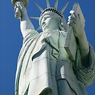 Statue of Liberty from below by Susan Leonard