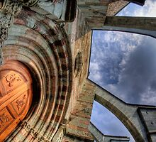 Doorway of Sacra di San Michele by Guy Carpenter