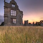 Morton Corbett Castle sunset by davediver