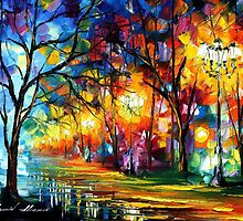 ALLEY - LEONID AFREMOV by Leonid  Afremov