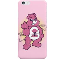 Don't Care Bear (pink) iPhone Case/Skin