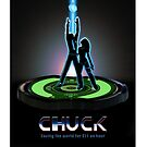 Chuck vs the TRON Poster by Strongblade