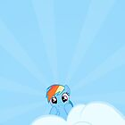 Rainbow Dash Cloud Watching by carnivean