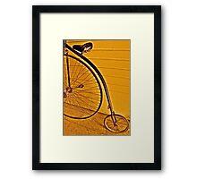 Penny - farthing Framed Print