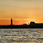Sunset Over Jersey by joan warburton