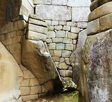 Images Of Peru - Machu Picchu (Inca Stonework 1) by Rebel Kreklow