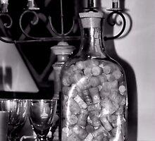 A Bottle of Wine Corks by Bob Wall