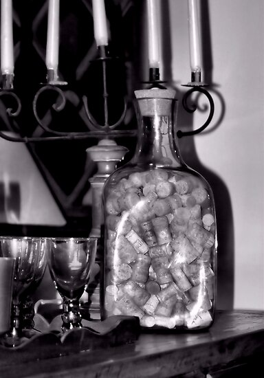 A Bottle of Wine Corks by Bob Wall
