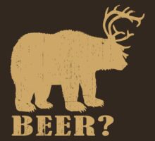 Beer? Redneck T-shirt. (brown) by avdesigns