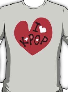 I love k-pop txt heart vector graphic line art T-Shirt