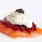Smoked salmon with beetroot by Marta69