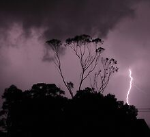 Lightning strike by Marika Armstrong