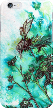 Fairy Flowers iPhone Case by © Linda Callaghan