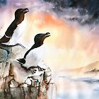 Razorbills Rock by Peter Williams