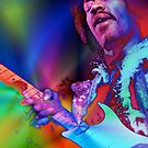 Jimi Hendrix iPhone case by Brian Varcas
