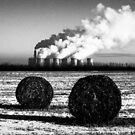 Two haybales in winter by jrsisson