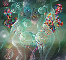 "ORIGINAL OIL ON CANVAS ""Green Belly Dance"" 51.8"" x 39.5""   $ 845.00 by simonadancila"