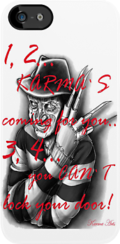 1,2 karmas coming 4 u IPHONE CASE by Dee-Karma-Arts