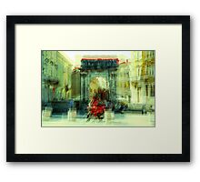 The Essence of Croatia - Red Motorbike in Pula Framed Print