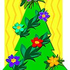 Tropical Christmas Tree for the Holidays by TheBluePlanet