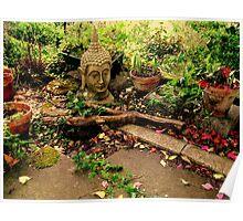 Buddha In The Garden Poster